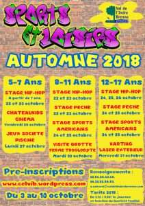 affiche stage pêche